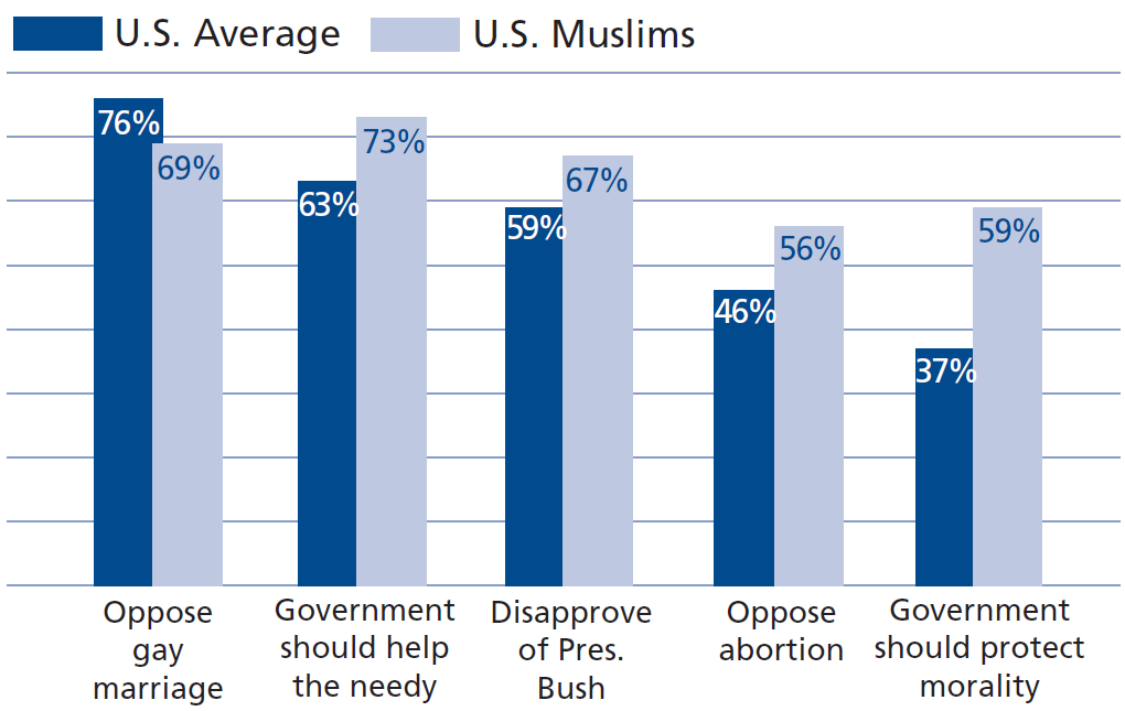 American Muslims favor big government, showing that immigration criteria favor big government