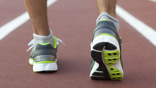 A runner takes a small step forward to improve health easily.